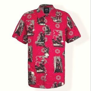 Star Wars Disney Dark Side Hawaiian Shirt NEW NIP